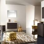 Best Golden Bathroom with Cream Rug