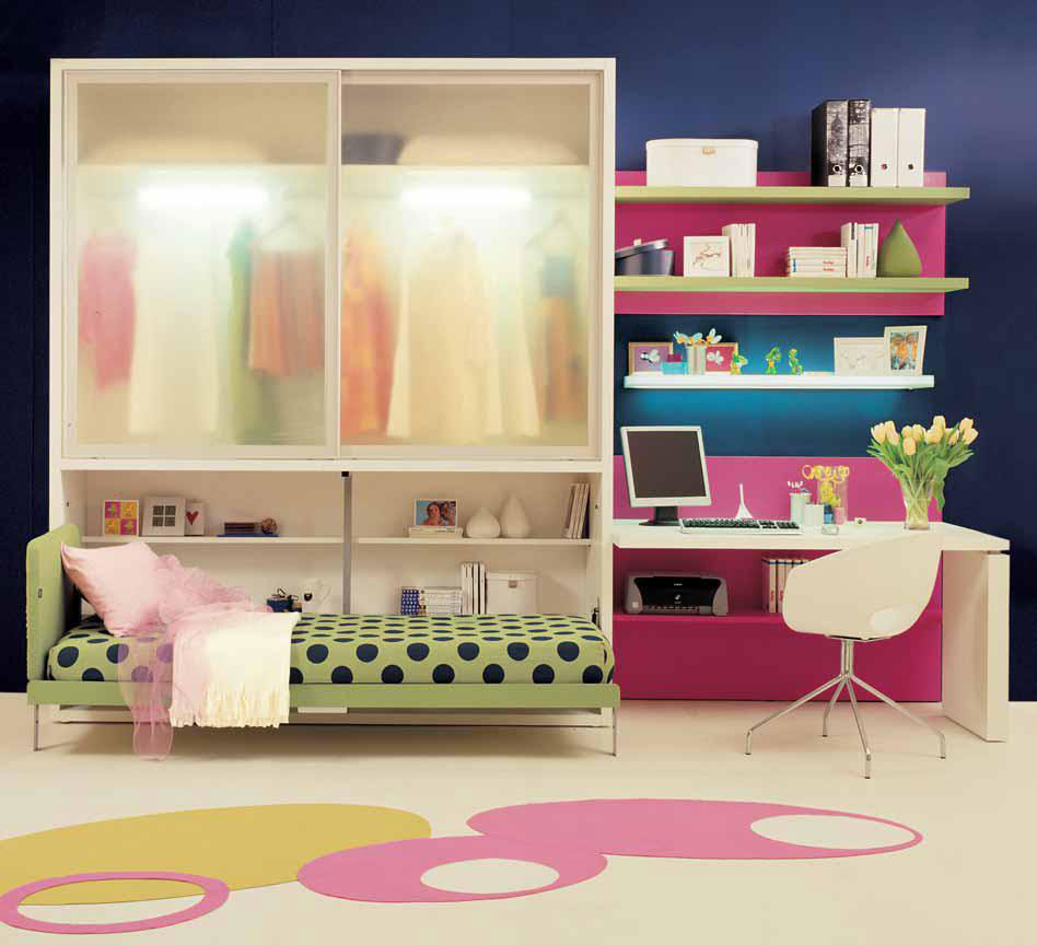 Making teen bedrooms work in small spaces designs by clei bedroom design ideas interior - Small space design ideas bedroom set ...