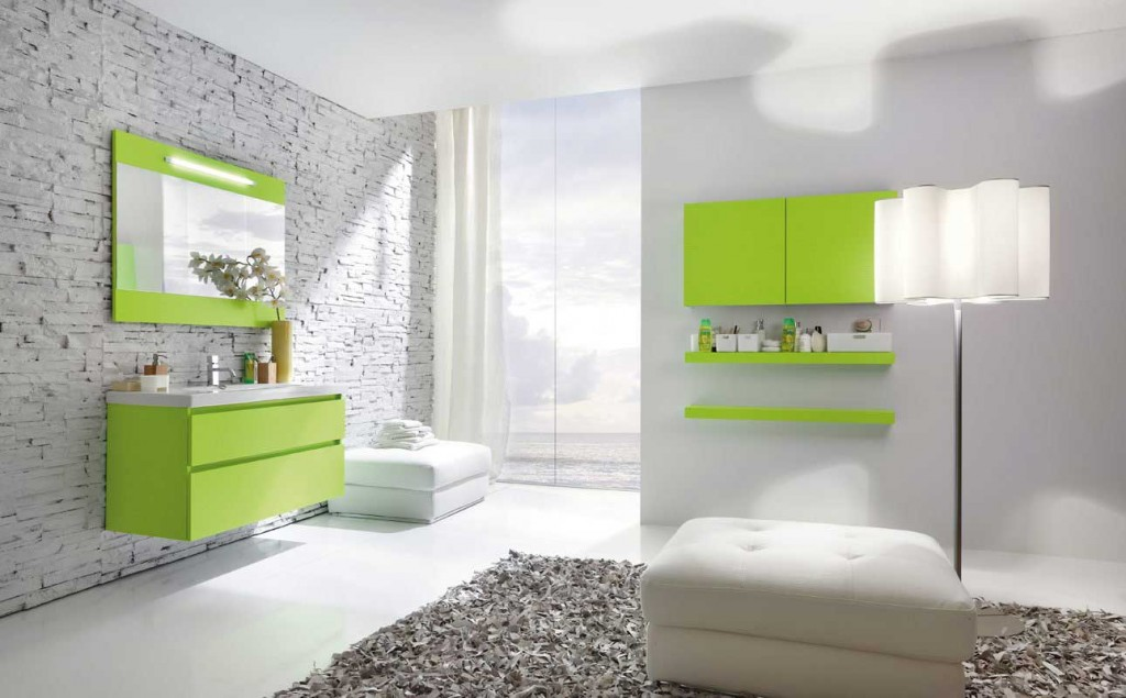 Best Lourescent Green Bathroom