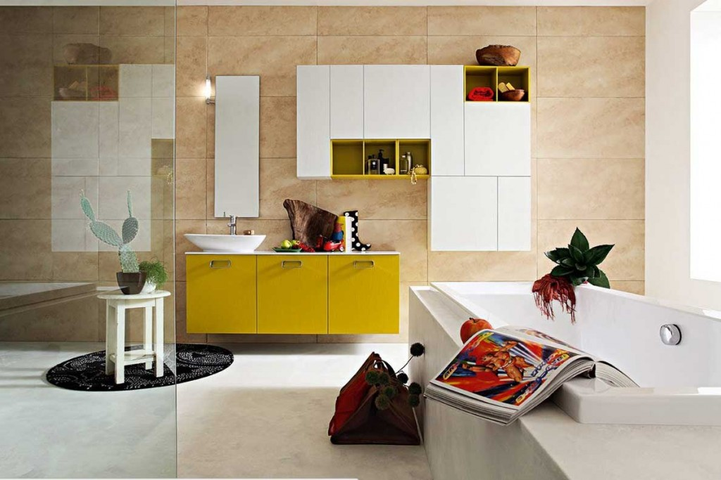Best Modern Multi Color Bathroom