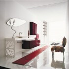 Best Modern Red and White Bathroom