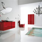 Best Modern White and Red Bathroom Floor Tub
