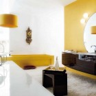 Best White Bathroom Yellow Accents