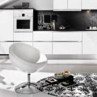 Black an White Living Kitchen