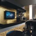 Black and Gold Italia Living Room