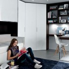 Black and White Contemporary Teenagers Room Design Ideas