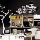 Black and White Trendy Teen Bedroom