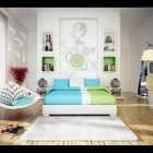 Blue Green Bedroom by qtinkdesign