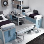 Blue Ocean Color Bunk Beds and Lofts Design for Kids