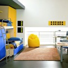 Blue and Yellow Bunkbeds Kids Design