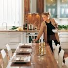 Brown and Wihte Kitchen Countertop