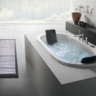 Built in Minimalist Oval Bathtub by BluBleu