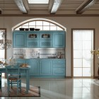 Clasic Blue Kitchen Closet Decorations with Channdelier