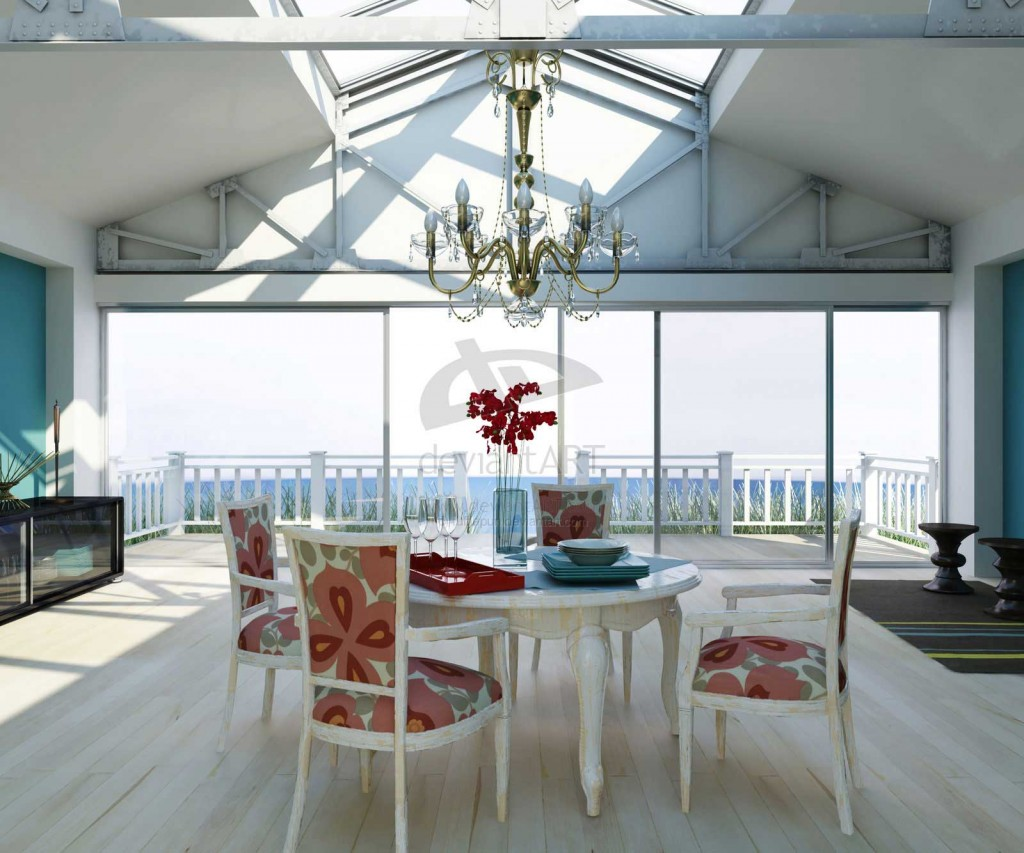 Clasic White Themed Dining Room Design Ideas