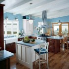 Classic mix Moder Kitchen with Wooden Furniture
