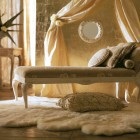 Comfort Italian Classic Interior Chair with White Rugs