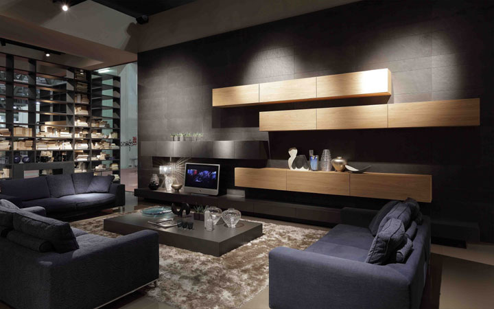 Comfortable Loft Living Italia Living Room Interior