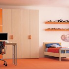 Confort Cream Orange Bed Room with PC Stand
