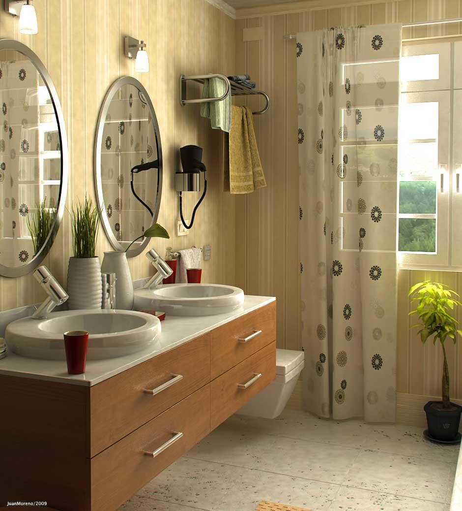 Contemporary Bathroom Neutral Tones Design Ideas