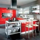 Contemporary Dema Cucine Red Kitchen Design