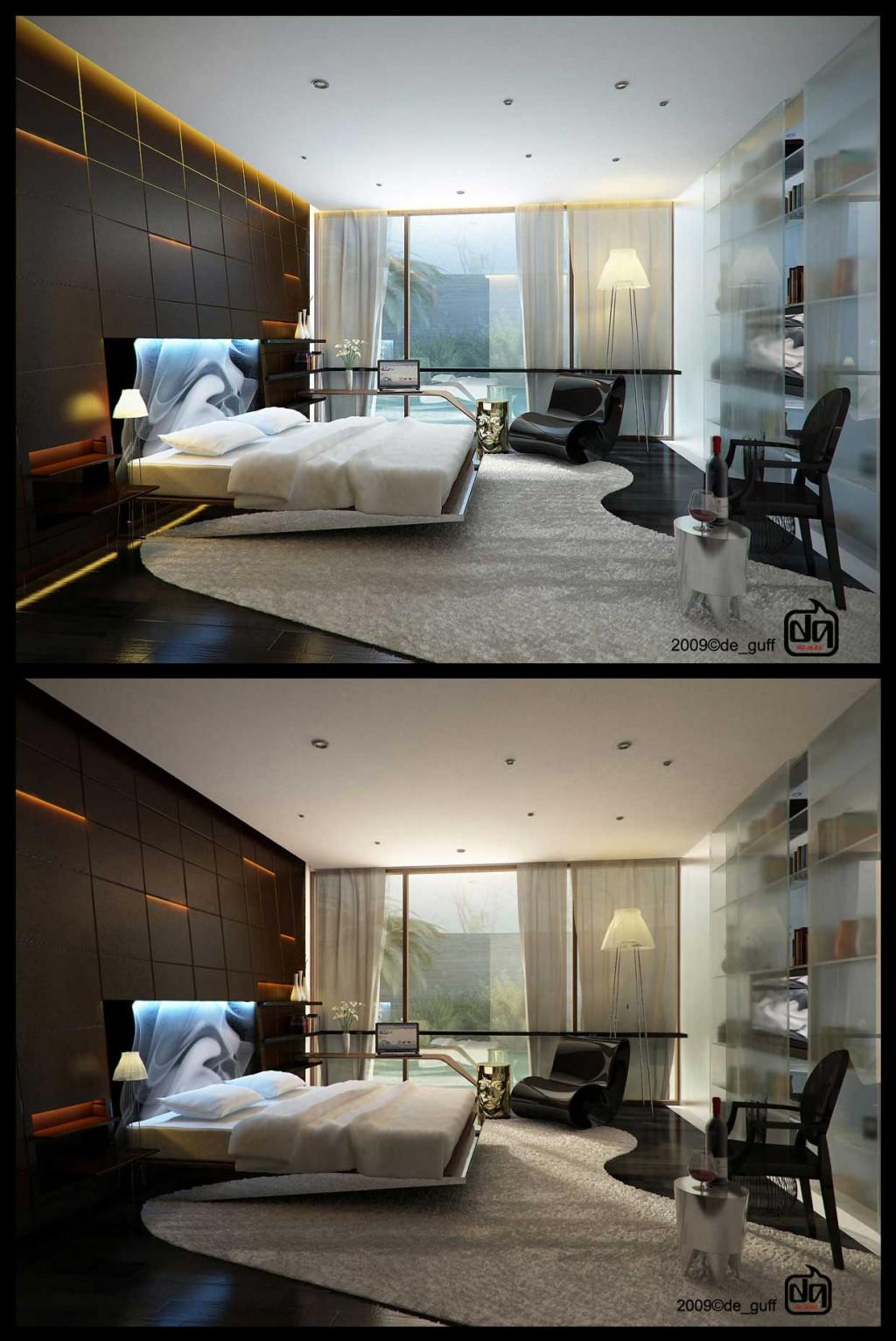 Cool bedroom accent lighting beautiful area rug interior design ideas - Cool bedroom lighting ...