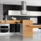 Cool Black and White Wooden Kitchen Furniture