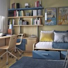 Cool Blue Small Kids Room Design