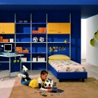 Cool Blue and Yellow Boys Bedroom Ideas by ZG Group