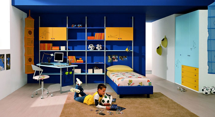 Cool blue and yellow boys bedroom ideas by zg group for Cool blue bedroom ideas