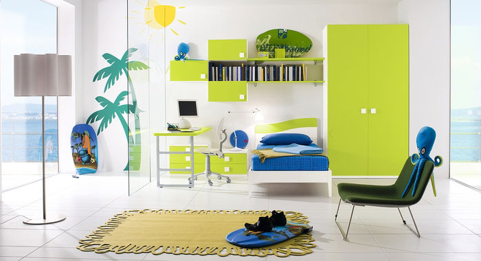 Cool green beach boys bedroom ideas interior design ideas for Boys beach bedroom ideas