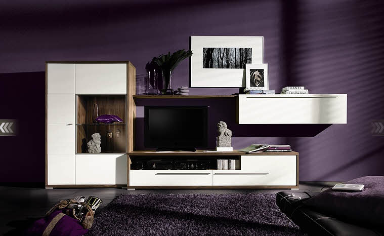 Cool Purple Living Room Design Ideas