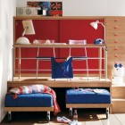 Cool Red Boys Bedroom Multilevel Study Table