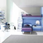 Cool Soft Blue and Violet Boys Bedroom Ideas by ZG Group