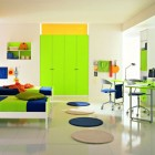 Cool Yellow and Green Boys Bedroom Ideas by ZG Group