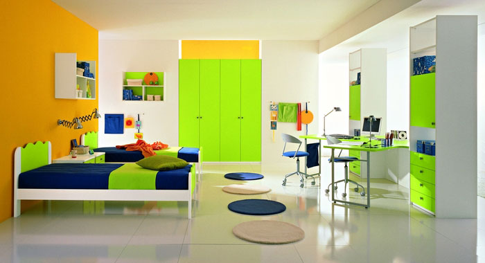 Cool yellow and green boys bedroom ideas by zg group for Interior designs for boys bedrooms
