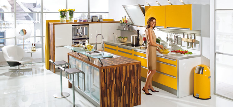 Cool And Modern Yellow Kitchen Design