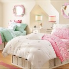 Cute Teen Rooms for Girls with Pink Zebra Bedcover