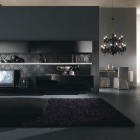 Dark Modern Living Space Italia Living Room