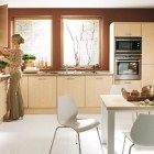 Elegant Bown Kitchen Design