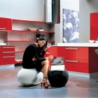 Exotic Red Kitchen by Errebi