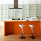 Fresh Copat Orange Italian Kitchen Design