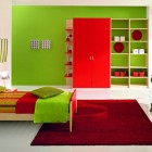 Fresh Green Boys Bedroom Ideas With Red Rug