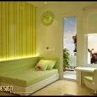 Fresh Green Kids Room Design Ideas