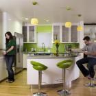 Fresh Green Kitchen Design