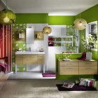 Fresh and Gorgeous Green Bathroom from Delpha