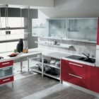 Gatto Cucine Red and White Kitchen Design