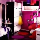Glamours IKEA Pink Teen Room with Cricle Rug