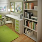 Green Kids Room Study with Small Floorspace