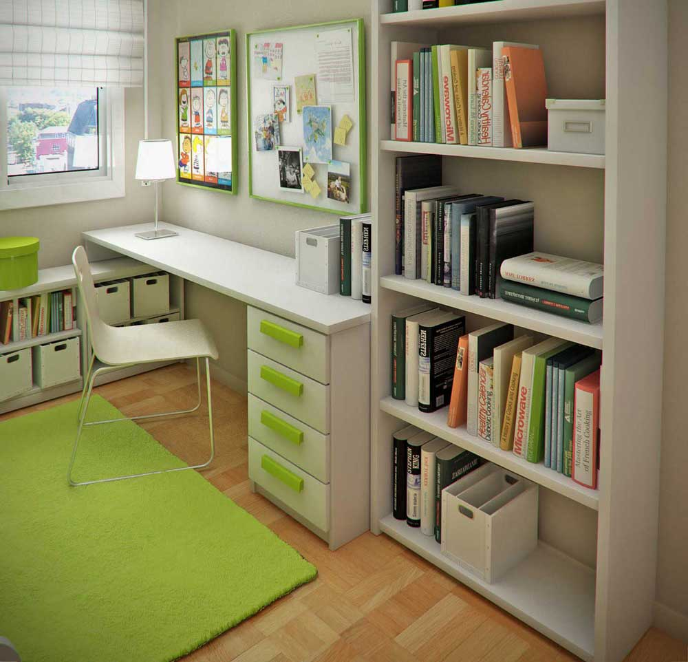 Small Study Room Ideas: Modern Small Floorspace Kids Rooms