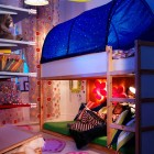 IKEA Kids Bedroom wit Flower And Tetnt Decoration